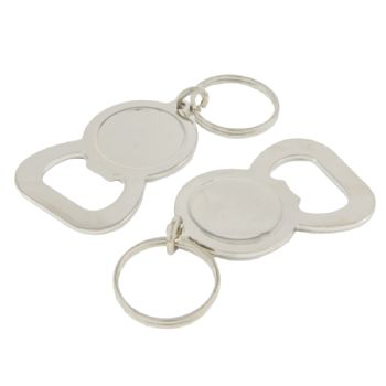 Keyring Blank Bottle Opener 25.4mm recess